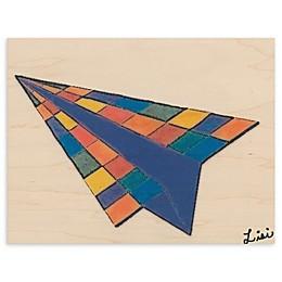 Airplane Blocks 11-Inch x 14-Inch Wood Wall Art