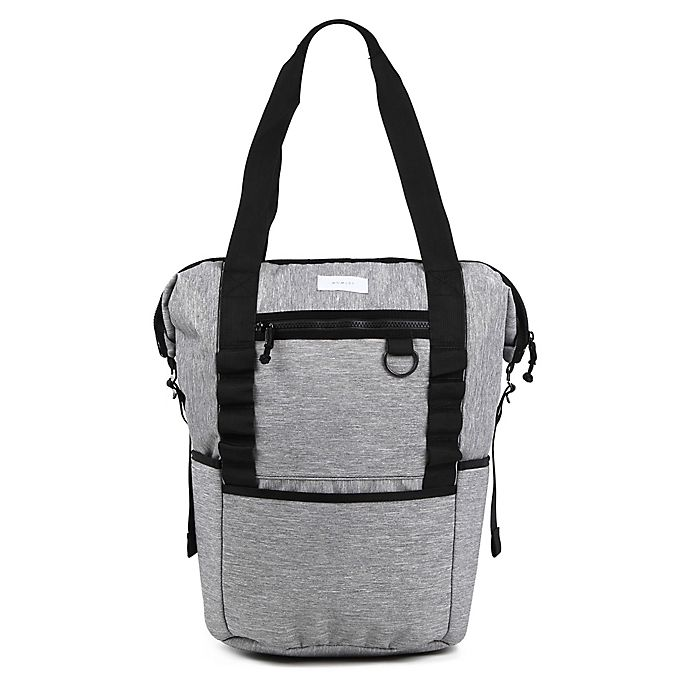 Alternate image 1 for Thea Thea Backpack Diaper Tote in Heather Grey