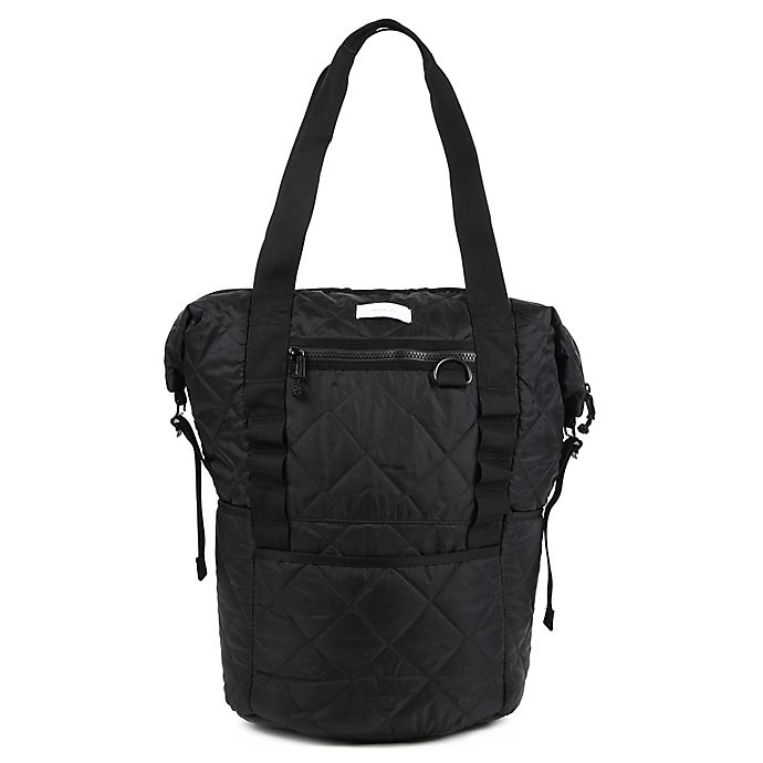 Alternate image 1 for Thea Thea Backpack Diaper Tote in Quilted Black