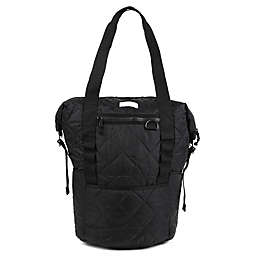 Thea Thea Backpack Diaper Tote in Quilted Black