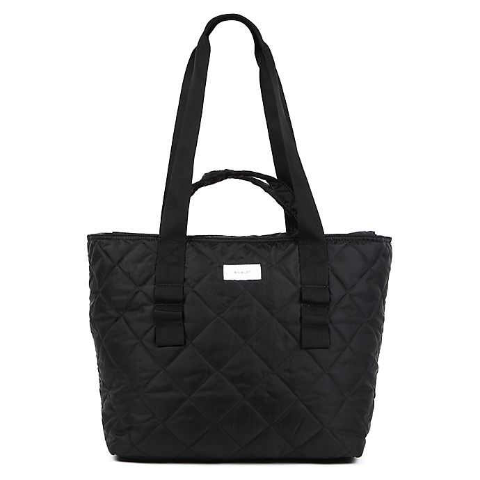 Alternate image 1 for Thea Thea Diaper Tote in Quilted Black