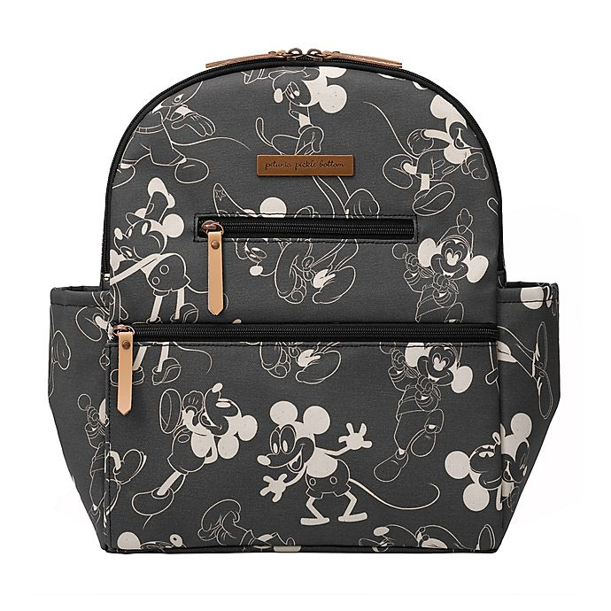 Alternate image 1 for Petunia Pickle Bottom® Mickey Mouse Ace Diaper Bag Backpack in Black