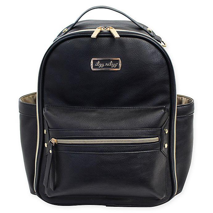 Alternate image 1 for Itzy Ritzy® Mini Backpack Diaper Bag in Black