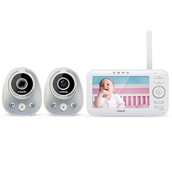 Alternate image 1 for VTech® VM352-2 5-Inch Digital Video Baby Monitor with Pan and Tilt Cameras