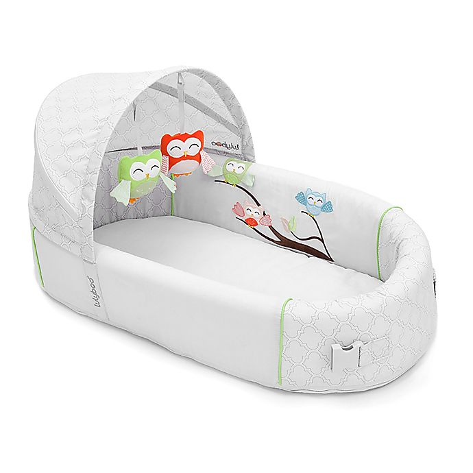 Alternate image 1 for Lulyboo Owl Bassinet to-go Premium™ Travel Bed
