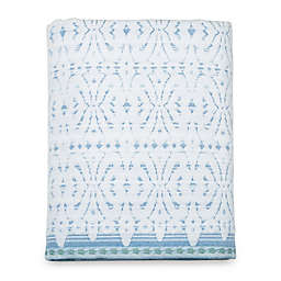 Daya Jacquard Bath Towel in Blue