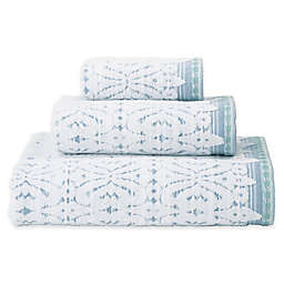 Daya Jacquard Hand Towel in Blue
