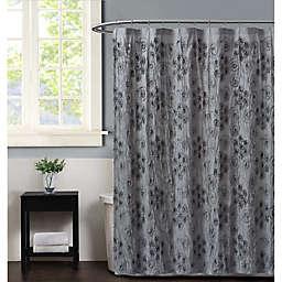 Christian Siriano NY® Pretty Petals Shower Curtain in Grey