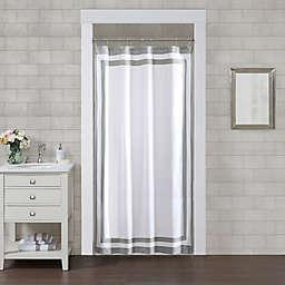 Wamsutta® Hotel Border 78-Inch x 54-Inch Shower Curtain in Grey