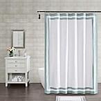 Wamsutta® Hotel Border 72-Inch Square Shower Curtain in Aqua