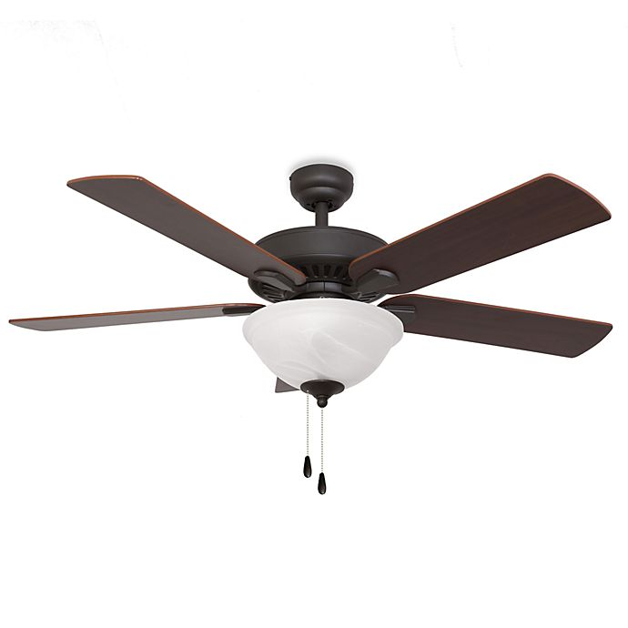 Alternate image 1 for Cordova 52-Inch Bowl Light Ceiling Fan in Bronze
