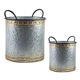 Bee & Willow™ Home Galvanized Metal Decorative Bucket