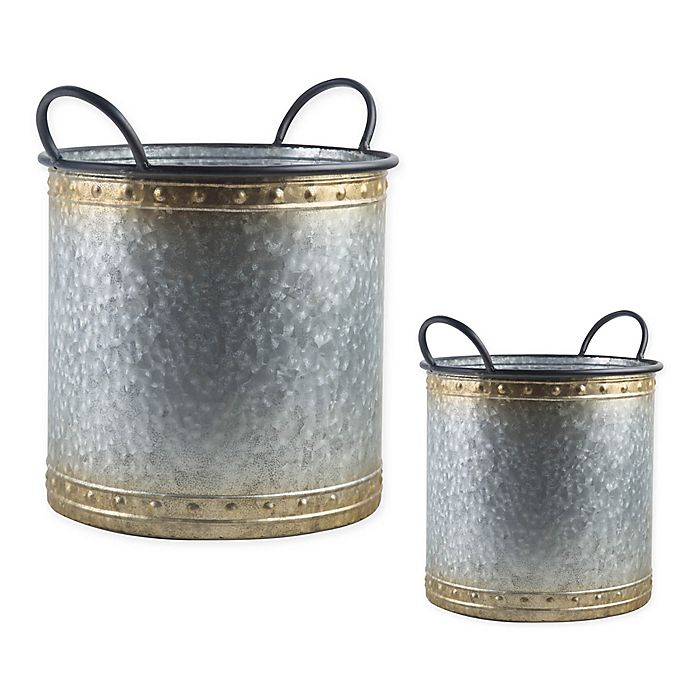 Alternate image 1 for Bee & Willow™ Home Galvanized Metal Decorative Bucket