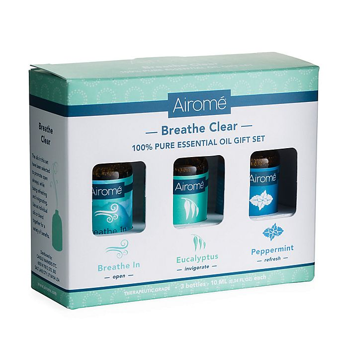 Alternate image 1 for Breathe Clear 100% Pure 10 ml. Essential Oils Gift Set