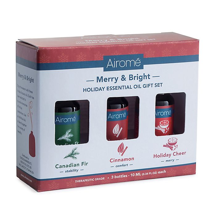 Alternate image 1 for Merry & Bright 100% Pure 10 ml. Essential Oils Gift Set