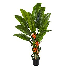 Nearly Natural 8-Foot Artificial Flowering Travelers Palm Tree