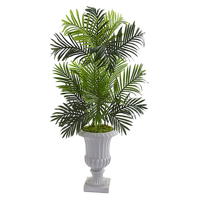 Alternate image 1 for Nearly Natural™ 4-Foot Paradise Palm Tree in White Urn
