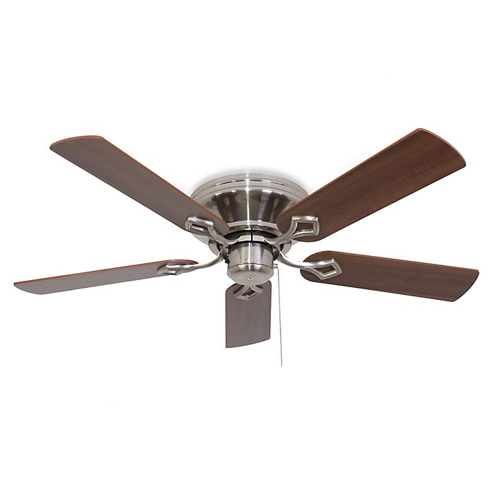 Alternate image 1 for 52-Inch Hampshire Low Profile Brushed Nickel Ceiling Fan