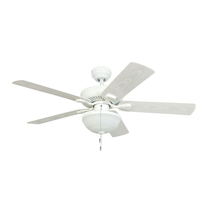 White Nadia Ceiling Fan: 52-Inch Halifax White Outdoor Ceiling Fan With Light Kit