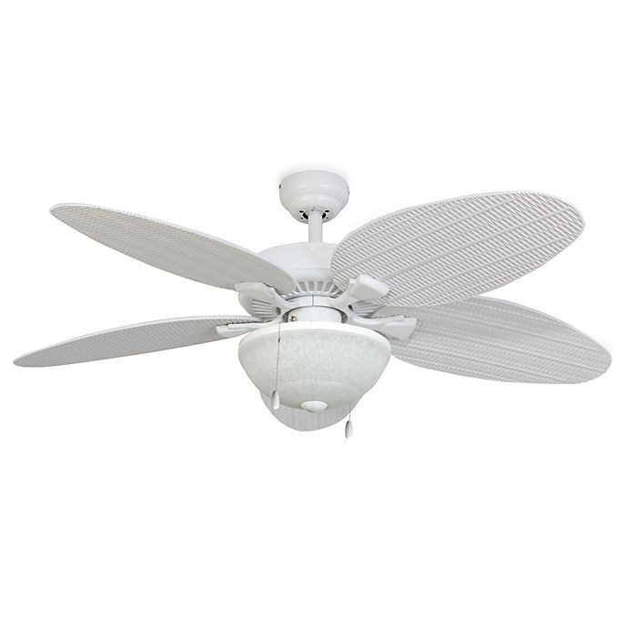 Shop Ecosure Siesta Key 52 Inch Tropical White Bowl Light: 52-Inch Hawks Cay Outdoor Ceiling Fan With Light Kit