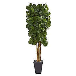 Nearly Natural 7.5-Foot Fiddle Tree Planter
