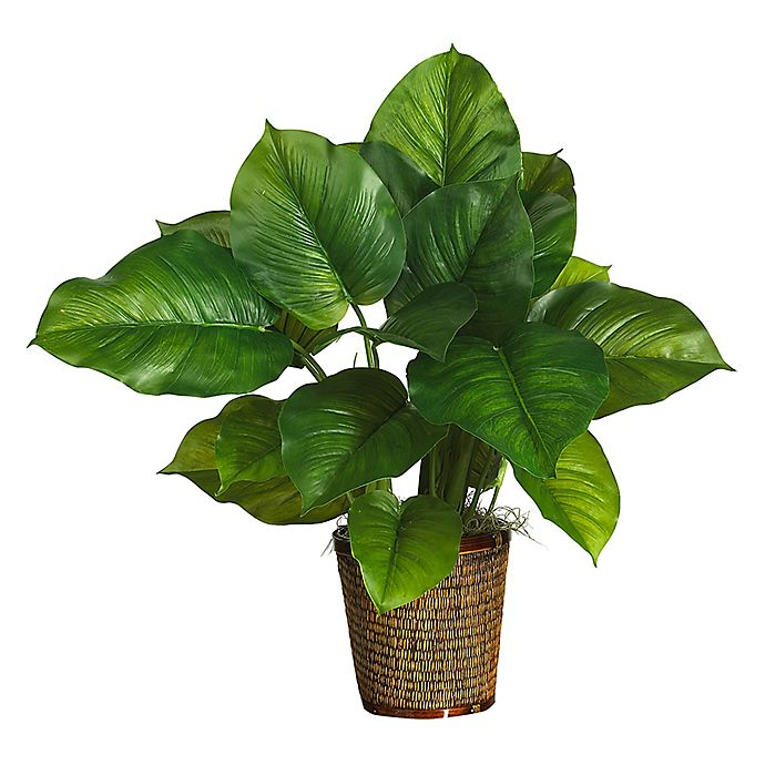 Alternate image 1 for Nearly Natural 29-Inch Large Leaf Philodendron Silk Plant