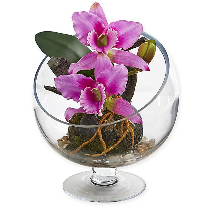 Nearly Natural Orchid And Succulent Silk Plant