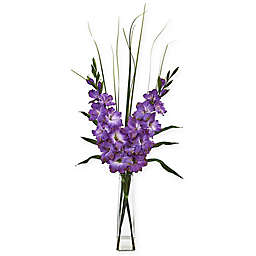 Nearly Natural 40-Inch Artificial Gladiola Arrangement in Vase