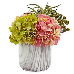 Nearly Natural 11-Inch Artificial Hydrangea and Berries Arrangement in Vase