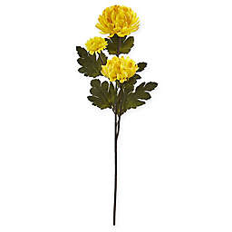 Nearly Natural 29-Inch Artificial Chrysanthemum Flowers (Set of 12)