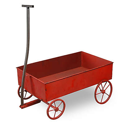 National Tree Company® 21-Inch Decorative Metal Wagon in Red