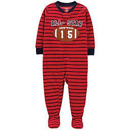 carter's® 1-Piece Football Fleece Pajama in Red