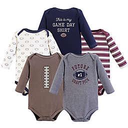 Hudson Baby® 5-Pack Football Long Sleeve Bodysuits