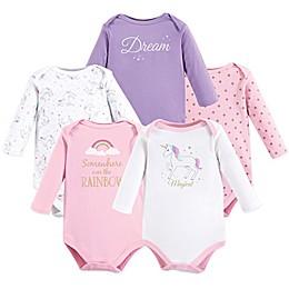 Hudson Baby® 5-Pack Unicorn Long Sleeve Bodysuits