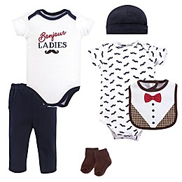 Hudson Baby® 6-Piece Bonjour Layette Set