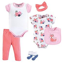 Hudson Baby® 6-Piece Flower Fox Layette Set in Pink