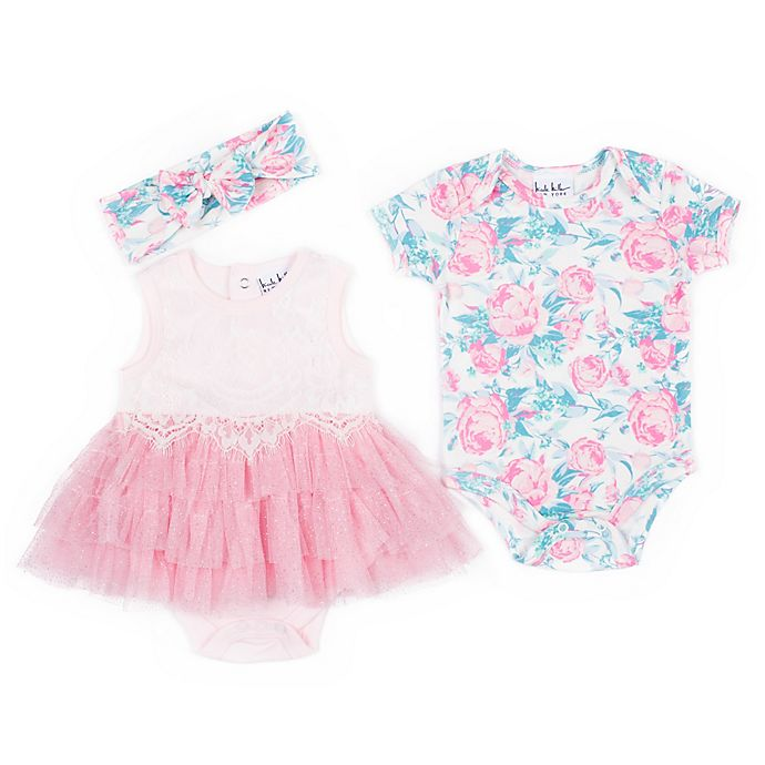 Alternate image 1 for Nicole Miller NY 3-Piece Floral Layette Set in Pink