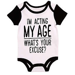 Baby Starters® BWA® Acting My Age Bodysuit in White