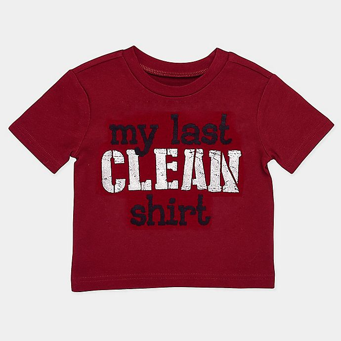 Alternate image 1 for BWA® Size 24M My Last Clean Shirt T-Shirt in Burgundy