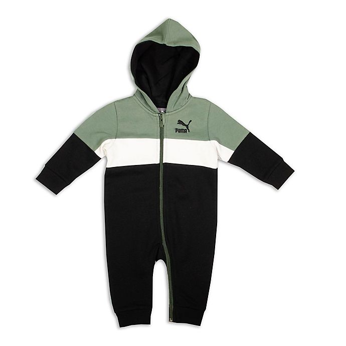 Alternate image 1 for Puma® Size 18M Hooded Coverall in Green/White/Black