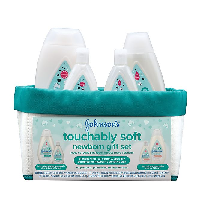 Alternate image 1 for Johnson & Johnson® Cotton Touch Newborn Baby Gift Set