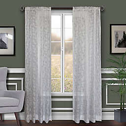 Florentina Rod-Pocket Sheer Window Curtain Panel