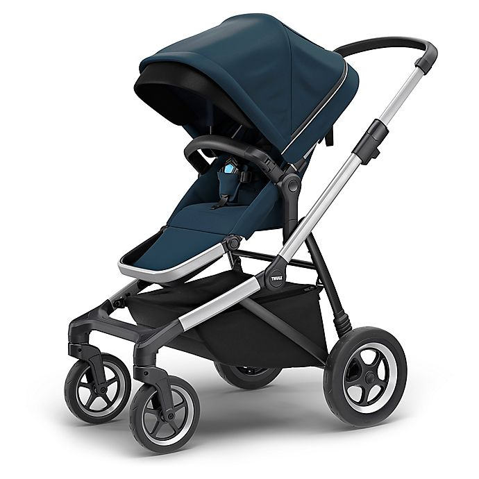 Alternate image 1 for Thule Sleek Stroller in Navy Blue