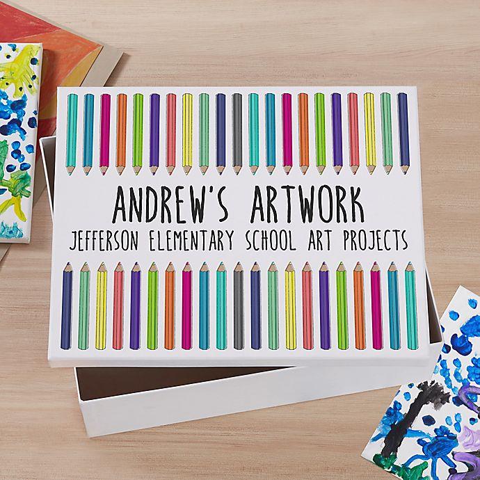 Alternate image 1 for Vibrant Hues Personalized Art Box