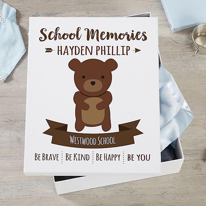 Alternate image 1 for Woodland Adventure Bear Personalized Kids Keepsake Box