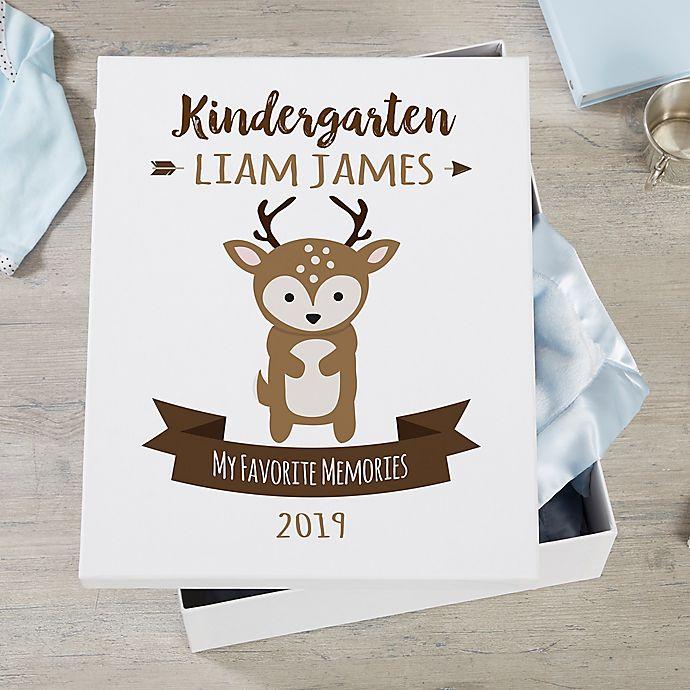 Alternate image 1 for Woodland Adventure Deer Personalized Kids Keepsake Box
