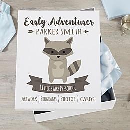 Woodland Adventure Raccoon Personalized Kids Keepsake Box