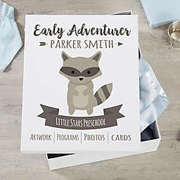 Woodland Adventure Raccoon Personalized Kids Keepsake Box