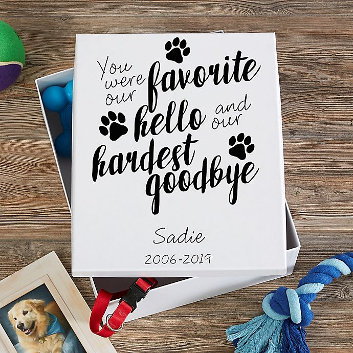 Alternate image 1 for Paw Prints On My Heart Personalized Keepsake Memory Box