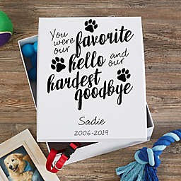 Paw Prints On My Heart Personalized Keepsake Memory Box